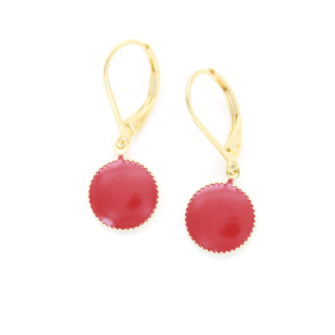 Boucles d'oreilles Pure bordeau Laeti Trema
