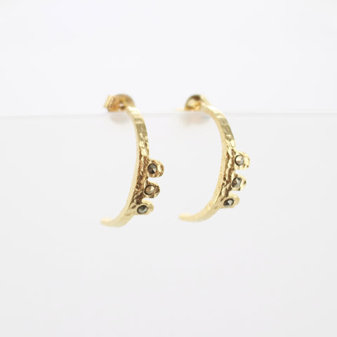 SOMSO: Louise Hendricks - Louise Hendricks boucles d'oreilles Zia or jaune
