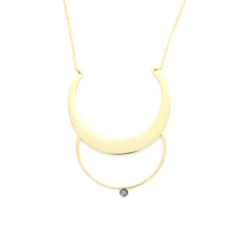 Collier long ZAG Alicia or jaune