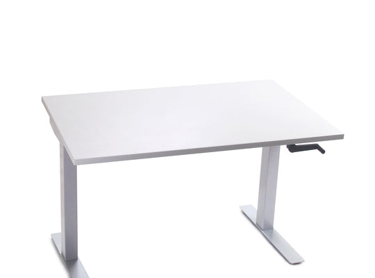 "Go-Green | Manual Crank Height-Adjustable Office Desk (30"" x 48"")"