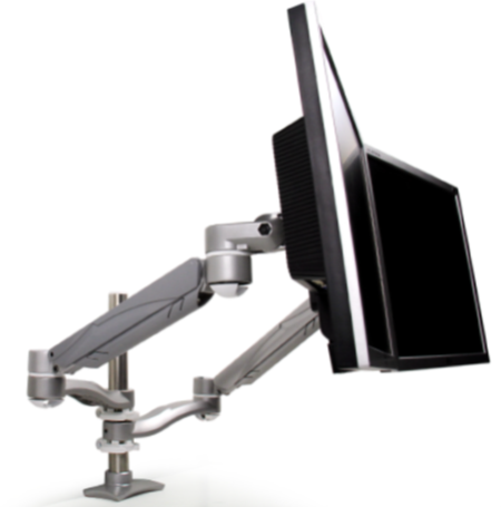 UpDown Concerto Dual Monitor, Double Extension Arm