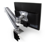 UpDown Single Monitor Double Extension Arm - Silver