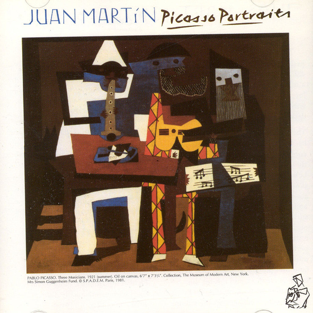 Image of Juan Martin, Picasso Portraits, CD