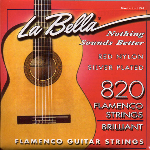 Image of LaBella / 820 Flamenco Red / Brilliant Tension (820-R)
