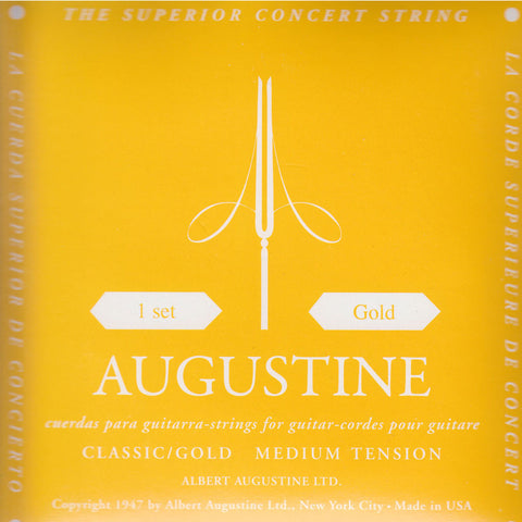 Image of Augustine / Classic Gold / Medium Tension (Black/Gold)