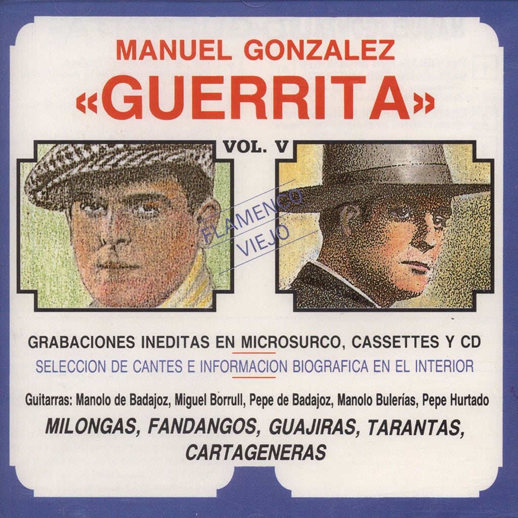 "Image of Manuel Gonzalez ""Guerrita"", Flamenco Viejo vol.V, CD"