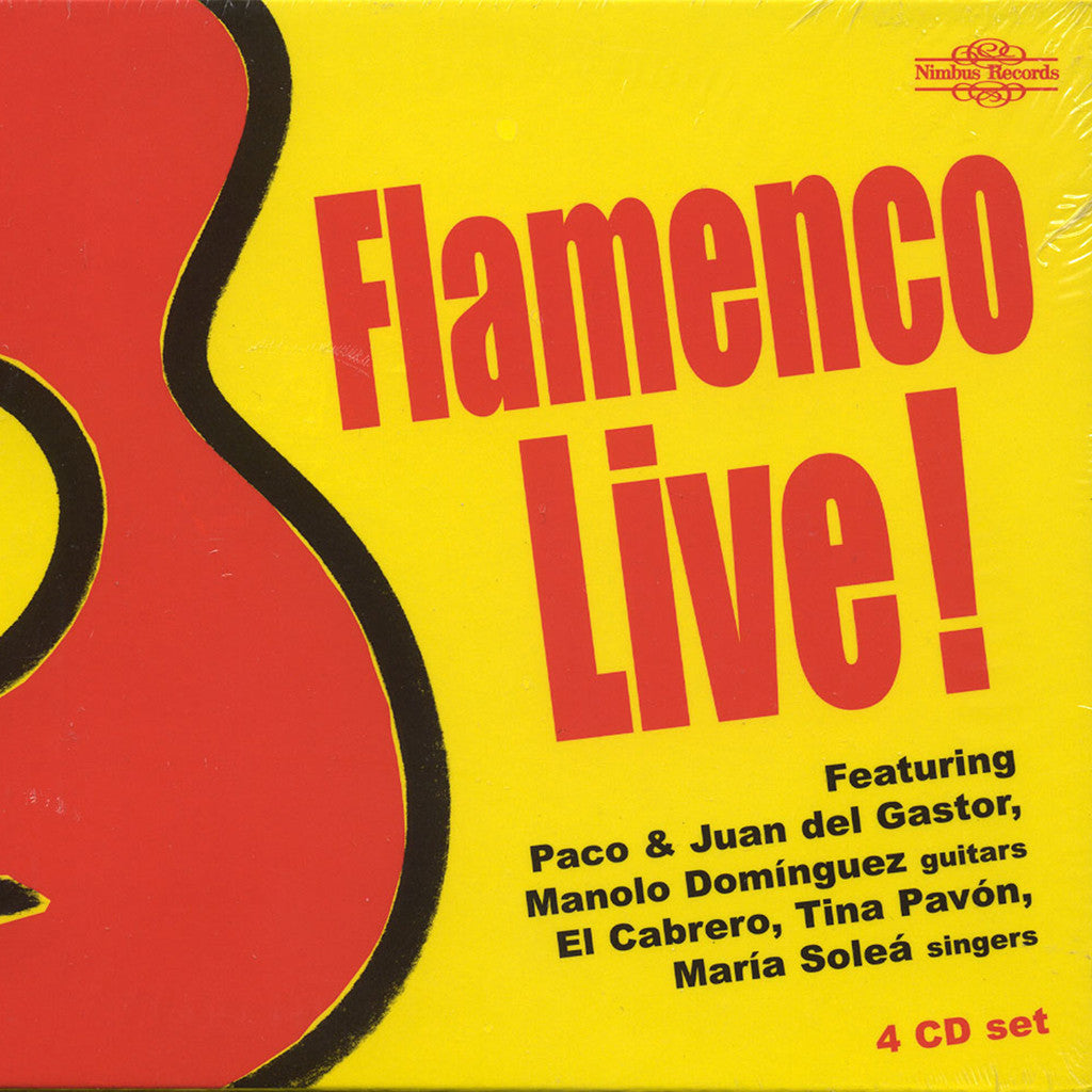 Image of Various Artists, Flamenco Live!, 4 CDs