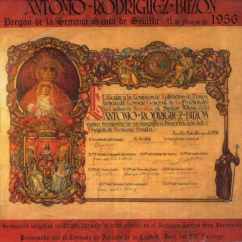 Image of Antonio Rodriguez Buzon, Pregon de Semana Santa, CD