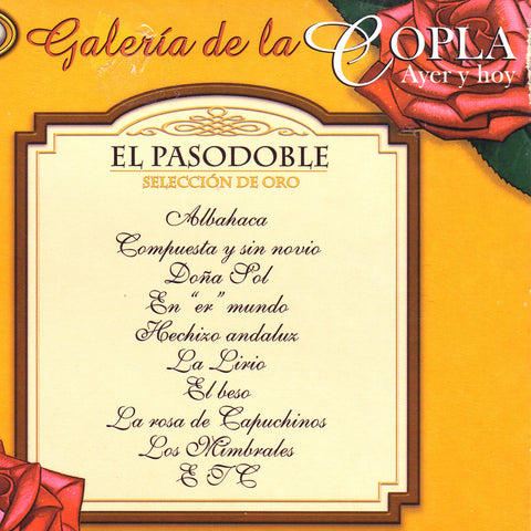 Image of Various Artists, El Pasodoble: Galeria de la Copla, CD
