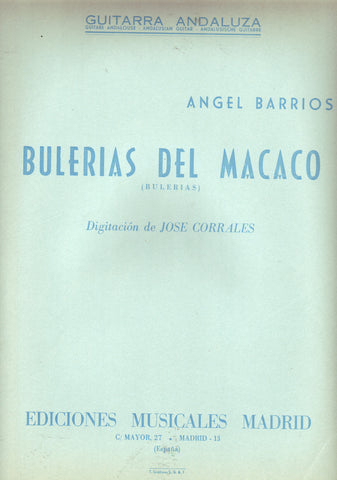 Image of Angel Barrios, Bulerias del Macaco, Music Book