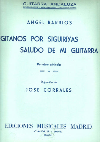 Image of Angel Barrios, Gitanos por Siguiriyas, Music Book