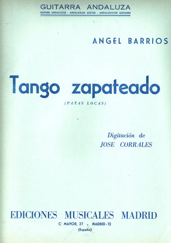 Image of Angel Barrios, Tango Zapateado, Music Book