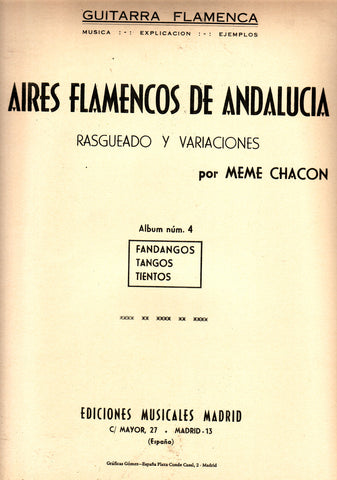 Image of Meme Chacon, Aires Flamencos de Andalucia vol.4, Music Book