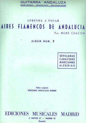 Image of Meme Chacon, Aires Flamencos de Andalucia vol.5, Music Book