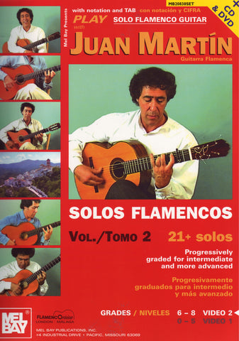 Image of Juan Martin, Solos Flamencos vol.1, Music Book, CD & DVD