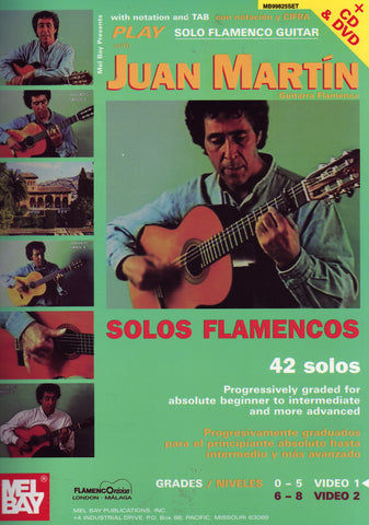 Image of Juan Martin, Solos Flamencos vol.2, Music Book & CD & DVD