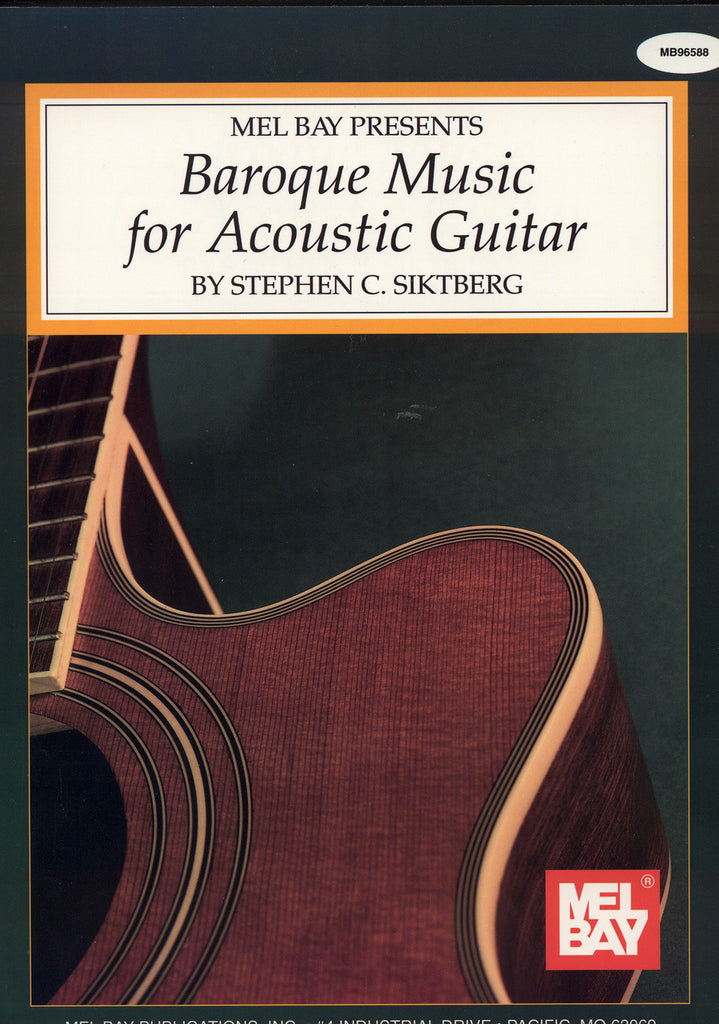 Image of Various Composers, Baroque Music for Acoustic Guitar, Music Book