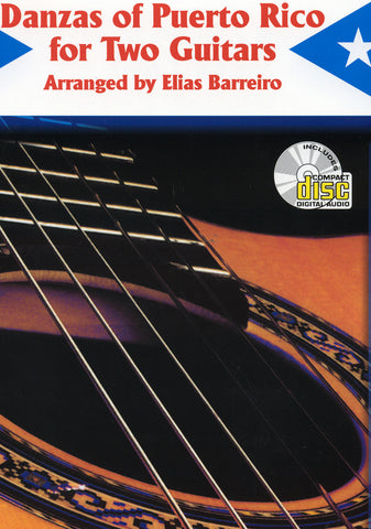 Image of Elias Barreiro, Danzas of Puerto Rico for Two Guitars, Music Book & CD