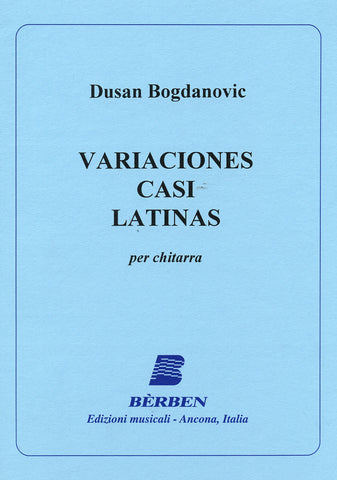 Image of Dusan Bogdanovic, Variaciones Casi Latinas, Music Book