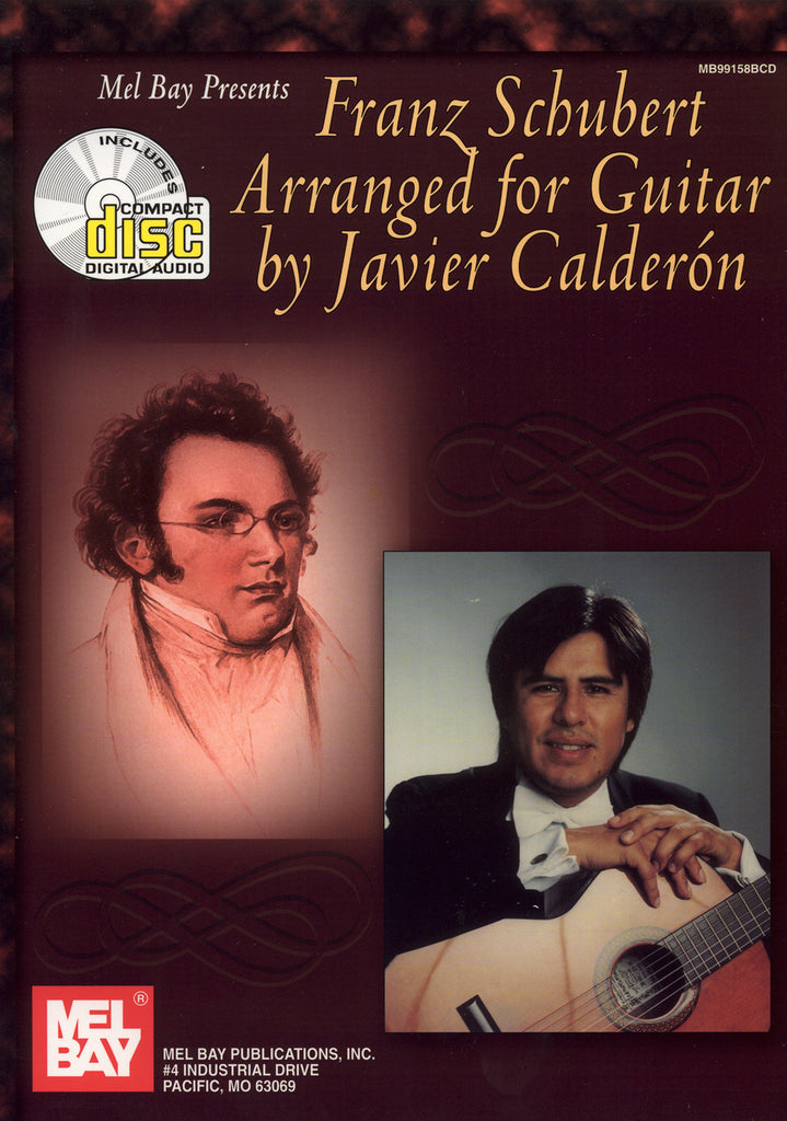 Image of Franz Schubert, Franz Schubert Arranged for Guitar (arr. Javier Calderon), Music Book & CD