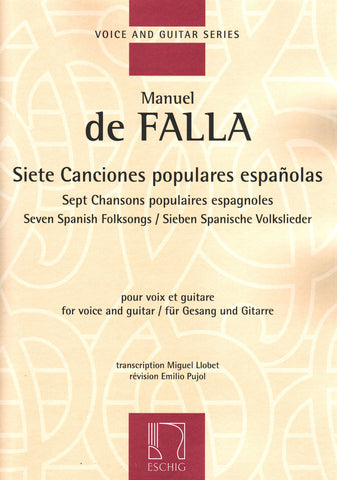 Image of Manuel de Falla, Siete Canciones Populares (guitar and voice), Music Book