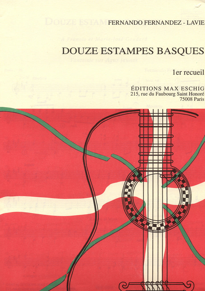 Image of Fernando Fernandez-Lavie, Douze Estampes Basques - 1er recueil, Printed Music