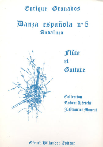 Image of Enrique Granados, Danza Española no.5: Andaluza (for flute & guitar), Music Book