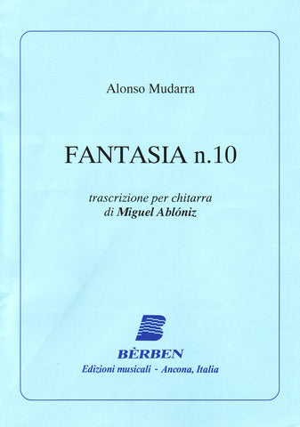 Image of Alonso de Mudarra, Fantasia no.10 (ed. Abloniz), Printed Music