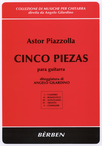 Image of Astor Piazzolla, Cinco Piezas para Guitarra, Music Book