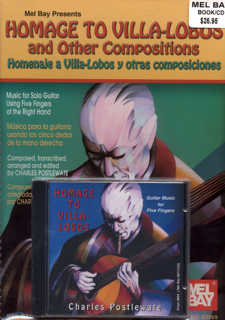 Image of Charles Postlewate, Homage to Villa-Lobos and Other Compositions, Music Book & CD