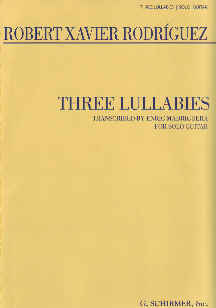 Image of Robert Xavier Rodriguez, Three Lullabies, Printed Music