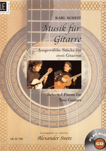 Image of Karl Scheit (ed.), Musik fur Gitarre: Selected Pieces for Two Guitars, Music Book & CD