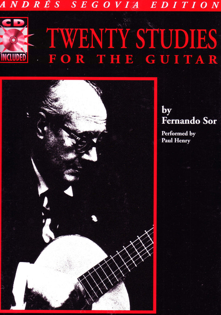 Image of Fernando Sor, Twenty Studies for Guitar, Music Book & CD