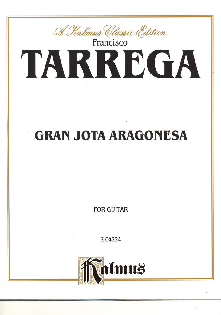 Image of Francisco Tarrega, Gran Jota Aragonesa, Printed Music