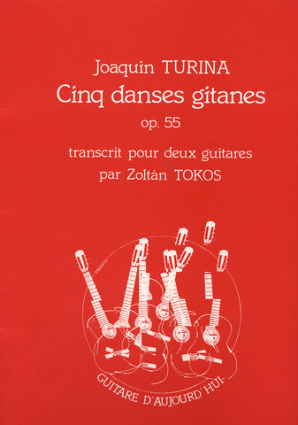 Image of Joaquin Turina, Cinq Danses Gitanes (for two guitars), Printed Music