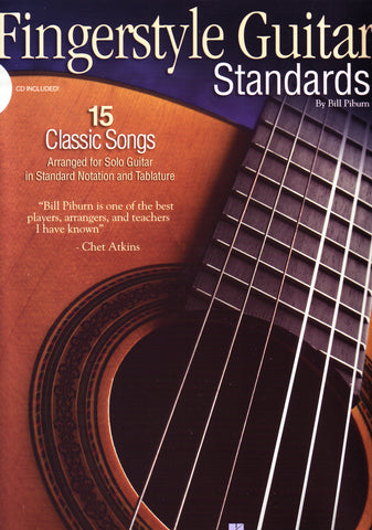 Image of Various Composers, Fingerstyle Guitar Standards (ed. Pitburn), Music Book & CD