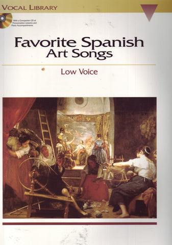 Image of Various Composers, Favorite Spanish Art Songs (for high voice), Music Book & CD