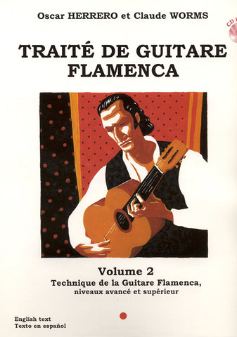 Image of Oscar Herrero & Claude Worms, Traité de Guitare Flamenca vol.2, Music Book & CD