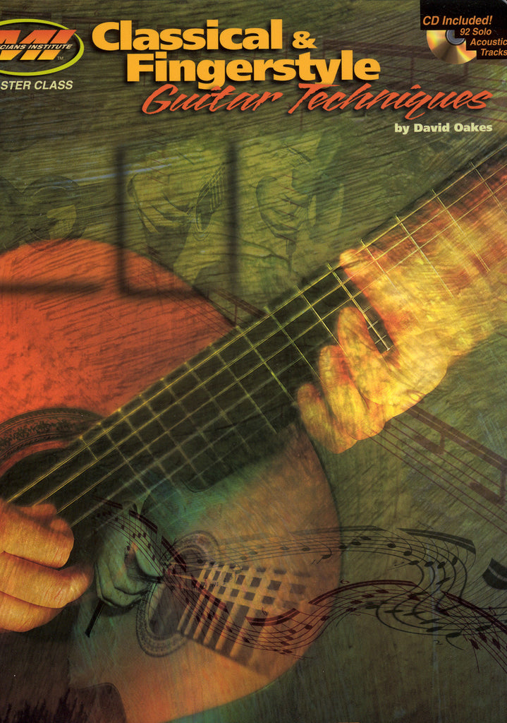Image of David Oakes, Classical & Fingerstyle Guitar Techniques, Music Book & CD