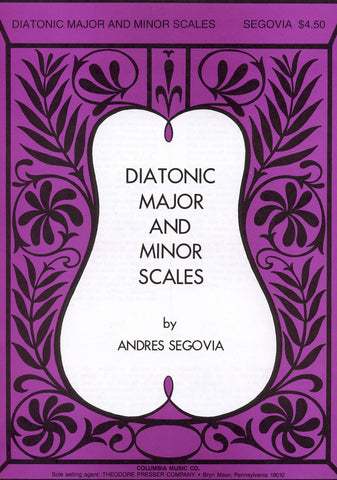 Image of Andres Segovia, Diatonic Major and Minor Scales, Music Book