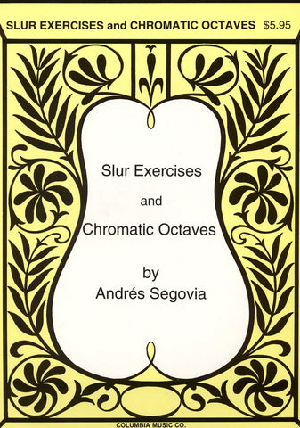 Image of Andres Segovia, Slur Exercises and Chromatic Octaves, Music Book