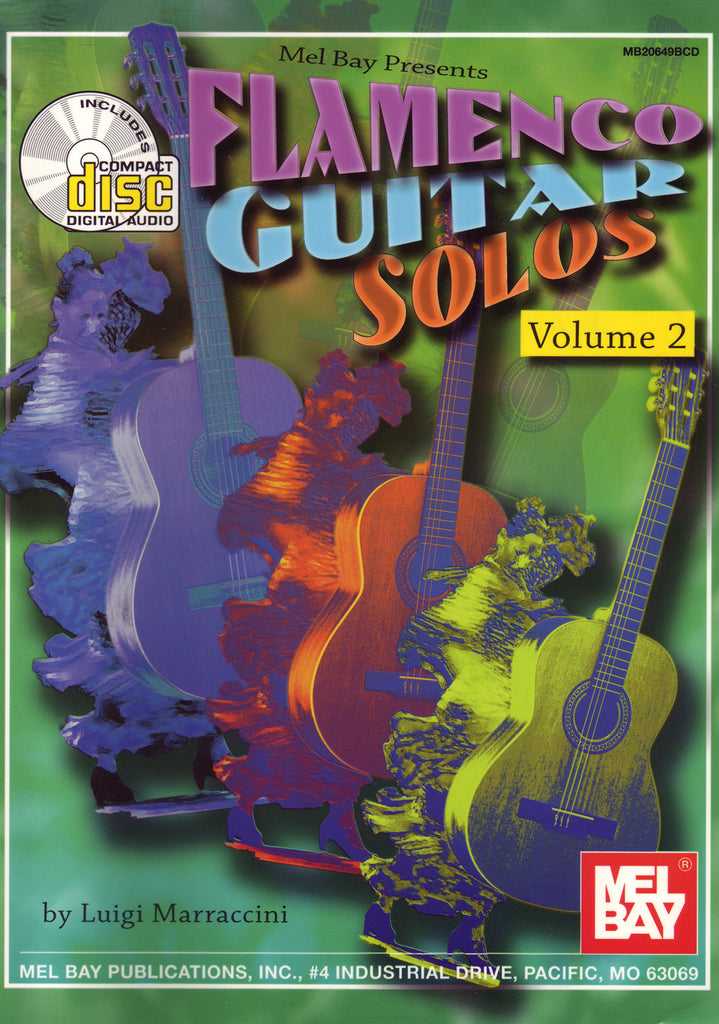 Image of Luigi Marraccini, Flamenco Guitar Solos vol.2, Music Book & CD