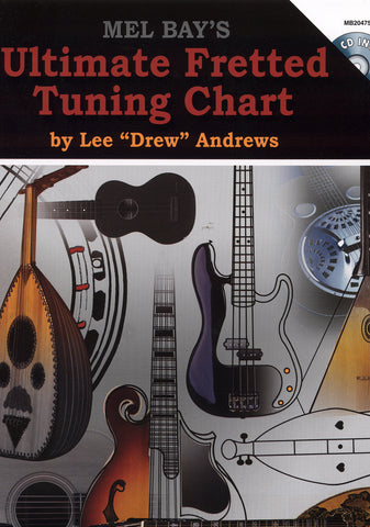 Image of Drew Andrews, Ultimate Fretted Tuning Chart, Chart & CD
