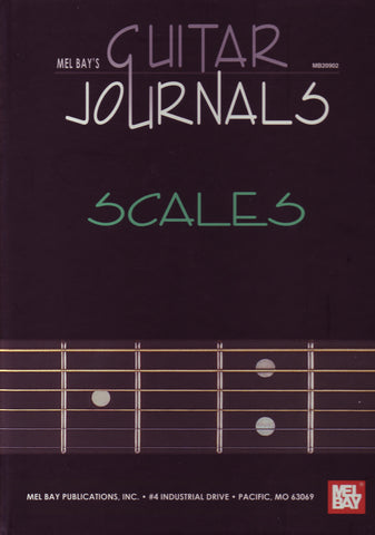 Image of Guitar Journals, Scales, Hardcover Music Book