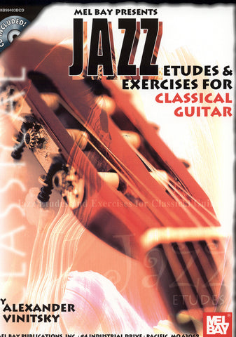Image of Alexander Vinitsky, Jazz Etudes & Exercises for Classical Guitar, Music Book & CD