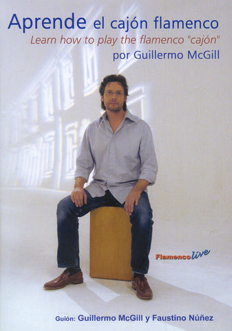 Image of Guillermo McGill, Practica el Cajon Flamenco, DVD