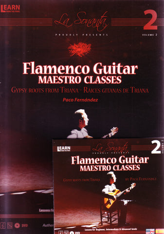 Image of Paco Fernandez, Flamenco Guitar Maestro Classes 2, DVD & Music Book