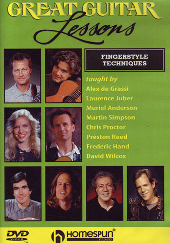 Image of Various Artists, Great Guitar Lessons: Fingerstyle Techniques, DVD