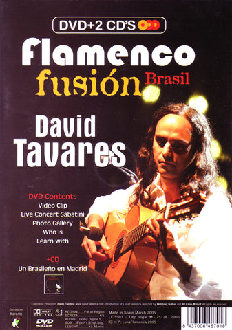 Image of David Tavares & Pablo Ruben Maldonado, Flamenco Fusion & Flamenco Jazz, 2 CDs & DVD-PAL