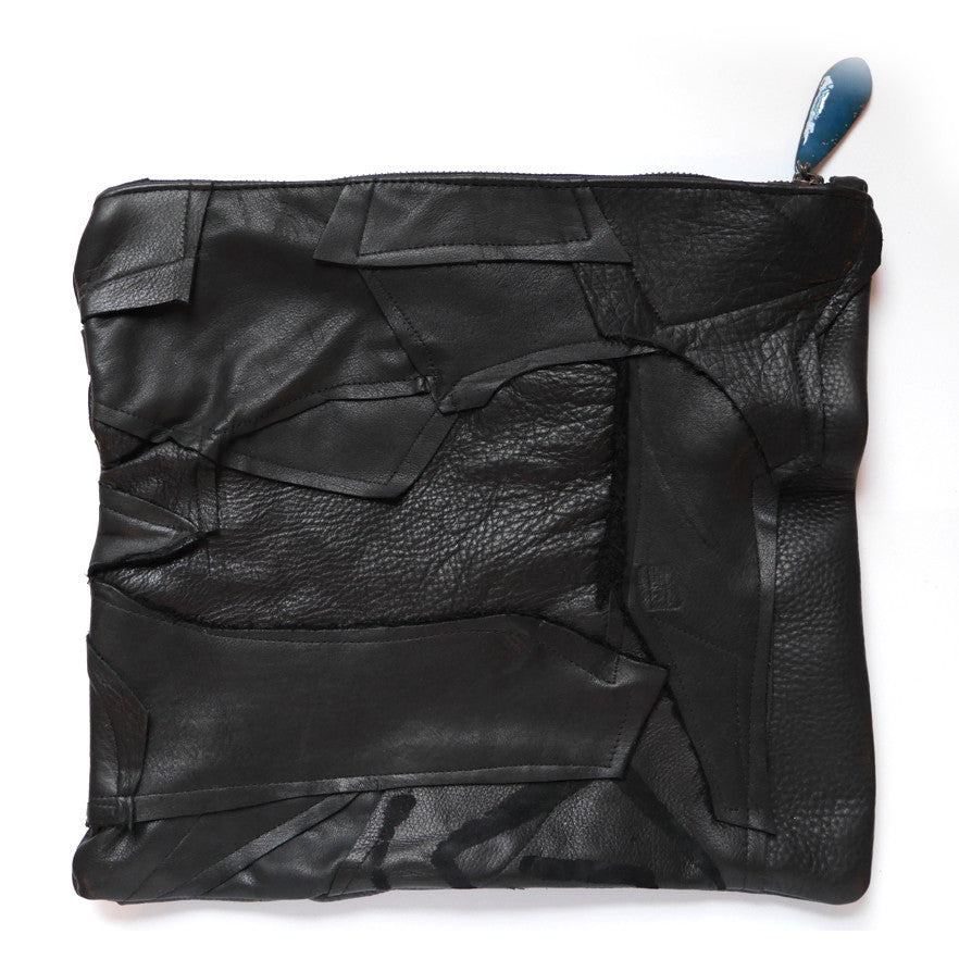 Leather Pieces Fold-over Clutch